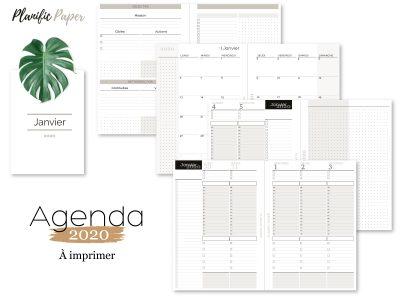 Agenda-Planner 2020 français Semainier sur 4 pages - Heures - objectifs-mois-semaines-weekend - Planific paper A5TH4P