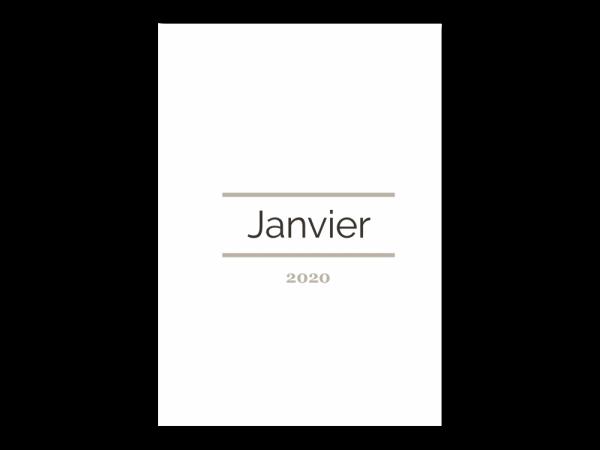 Planific -Agenda Semainier - Couverture mensuelle