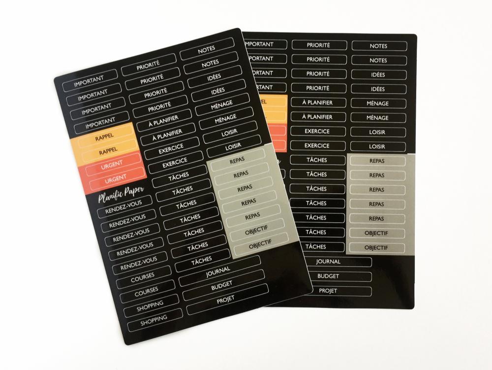 stickers pour planner en français