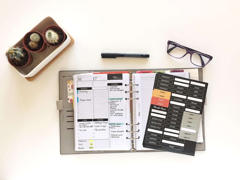 accessoires pour créer vos planner maison