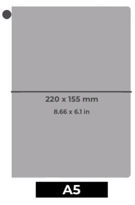 Traveler's Notebook A5 en cuir - Planner rechargeable - Dimensions