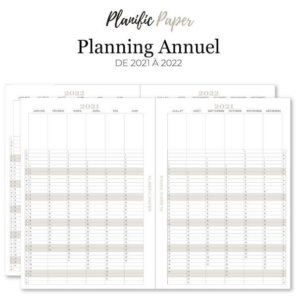 Agenda-Planner 2021 français Semainier sur 4 pages todo list - objectifs-mois-semaines-weekend - Planific paper A5 - Planning annuel